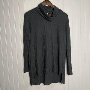 BP oversize waffle knit Cowl neck sweater gray
